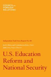 U.S. Education Reform and National Security - Military Child ...
