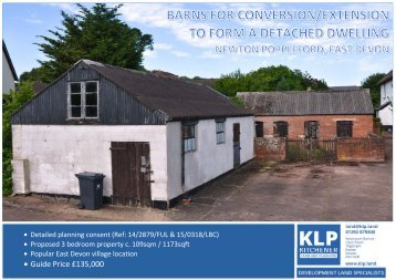 Barns for conversion/extension to form a dwelling, East Devon