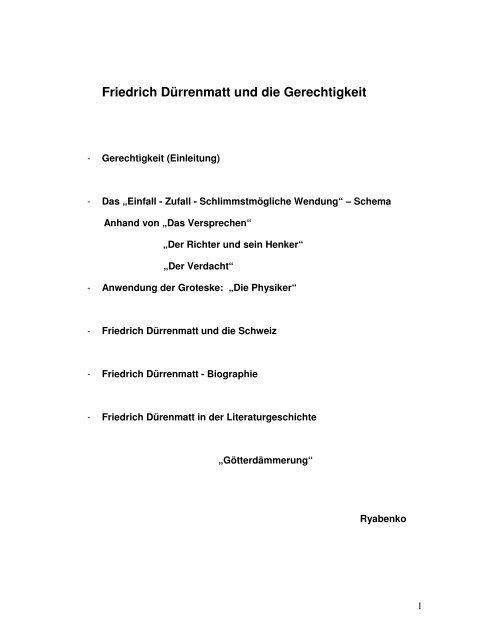 Lebenslauf Friedrich Durrenmatt 4teachers De 11