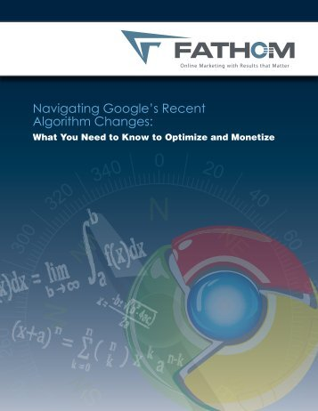Navigating Google's Recent Algorithm Changes: - Fathom