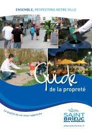 Téléchargez le guide de la propreté - Saint-Brieuc