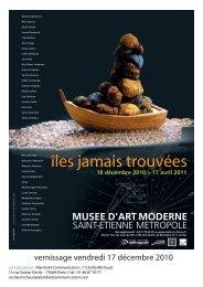 îles jamais trouvées - Musée d'art moderne de Saint-Etienne