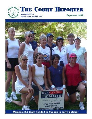 May Court Reporter - Walnut Creek Racquet Club