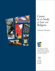 Brochure - Center for the Study of Law and Religion - Emory University