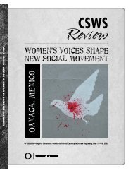 Winter 2007 - Center for the Study of Women in Society (CSWS)
