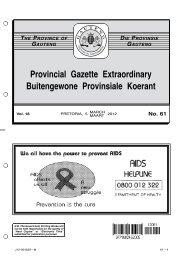 No. 61 - Gauteng Provincial Treasury
