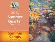 2013 Summer Quarter + - The Arts Castle