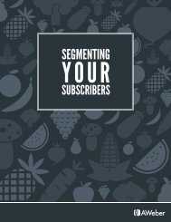 Segmenting Your Subscriber