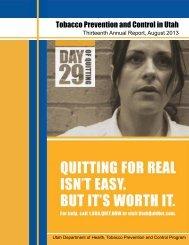 Utah Annual Report.pdf - Utah Tobacco Prevention and Control ...