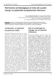 Patrimoine archéologique et Grès de Luxem - Musée national d ...