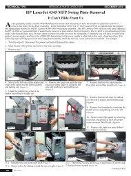 HP LaserJet 4345 MFP Swing Plate Removal - ENX Magazine