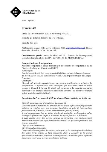 programa complet - Servei Lingüístic