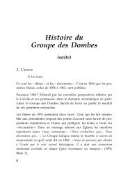 Le Groupe des Dombes III - Arccis