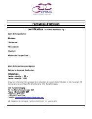 Formulaire d'adhésion - CDC Memphrémagog