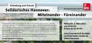 Solidarisches Hannover: Miteinander - Füreinander - SPD ...