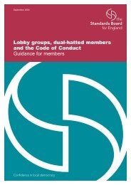 Lobby groups, dual-hatted members and the Code of Conduct ...