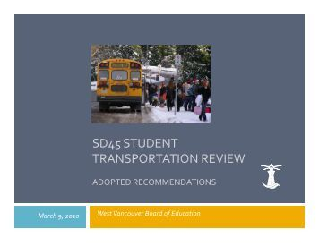 Transportation Review recommendations ... - the School District