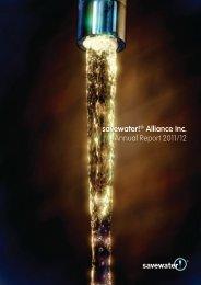 savewater!® Alliance Inc. Annual Report 2011/12 - Savewater.com.au