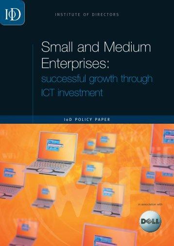 Small and Medium Enterprises: - Professor Jim Norton