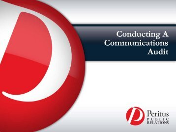 Conducting a Communications Audit - Center for Nonprofit Excellence
