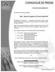 Gagnantes et gagnants du Concours Soliste 2007 - Commission ...