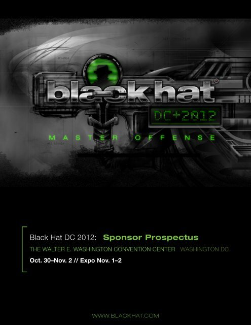 Black Hat DC 2012  Sponsor Prospectus - UBM TechWeb Events ... 9f7c7ddb293