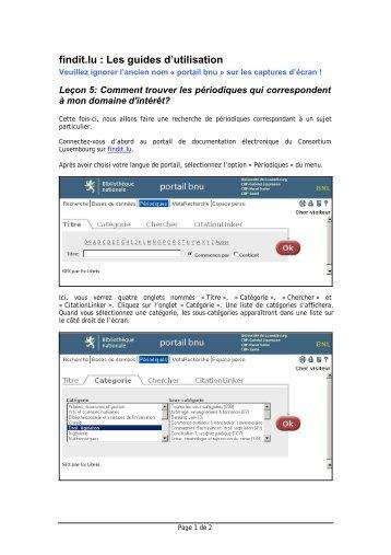 findit.lu : Les guides d'utilisation - blog.findit.lu