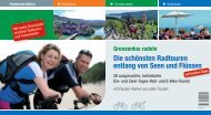 Die schönsten Radtouren entlang von Seen und Flüssen