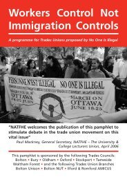Workers Control not Immigration Controls - No One Is Illegal