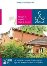 Already a tenant?.. Want to move?.. - Adactus Housing Group Ltd