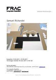 Samuel Richardot - FRAC Languedoc-Roussillon