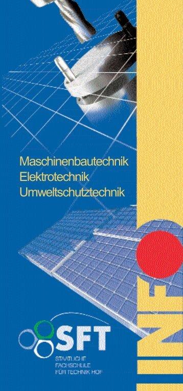 Maschinenbautechnik Elektrotechnik Umweltschutztechnik
