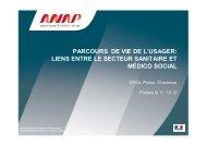 Liens entre les secteurs sanitaire et médico-social - ARS Poitou ...