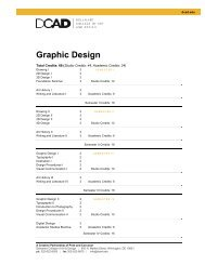 Graphic Design - Delaware College of Art and Design