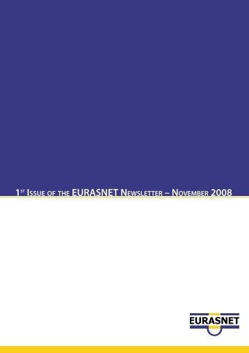 1st Issue of the EURASNETET Newsletter – November 2008