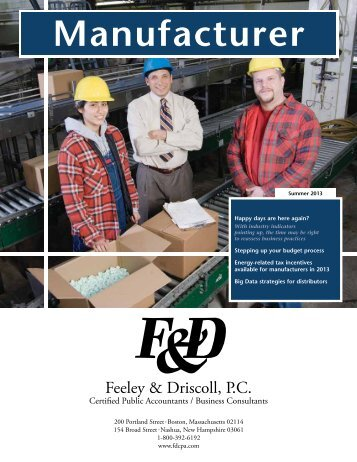Download our most recent M&D newsletter in PDF format - Feeley ...