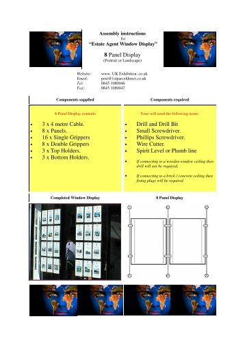 8 Panel Display 3 x 4 metre Cable. 8 x Panels. 16 x ... - UK Exhibition