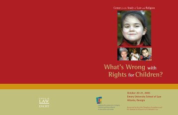 What's Wrong Rights Children? - Center for the Study of Law and ...