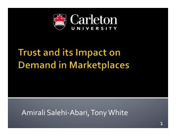 Trust and its Impact on Demand in Marketplaces