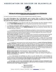 ASSOCIATION DE SOCCER DE BLAINVILLE - La Zone ASB