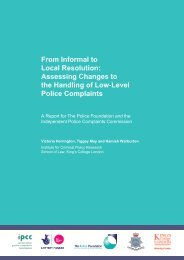 low level police complaints.pdf - Institute for Criminal Policy Research