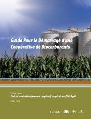 Guide Pour le Démarrage d'une Coopérative de Biocarburants