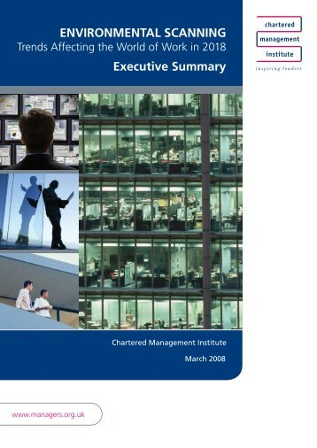 Environmental Scanning - Chartered Management Institute