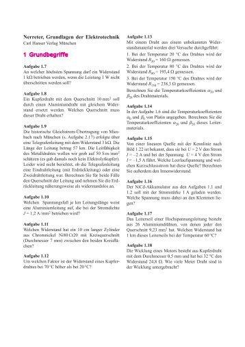 Nerreter, Grundlagen der Elektrotechnik 1 Grundbegriffe