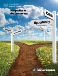Annual Report to Stakeholders - Center for Nonprofit Excellence