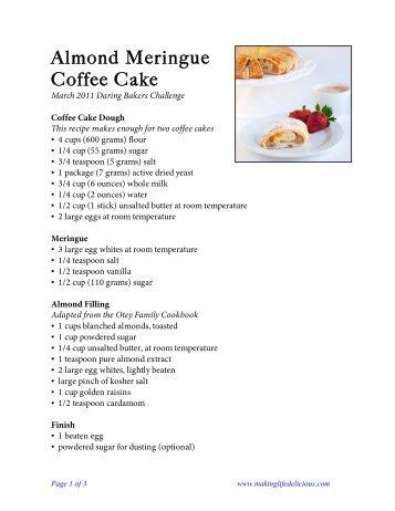 Almond Meringue Coffee Cake Recipe