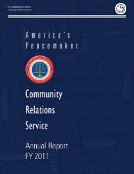 U.S. Department of Justice Community Relations Service