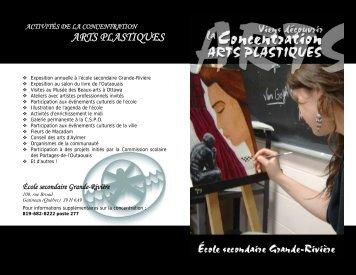 arts plastiques - École secondaire Grande-Rivière - Commission ...