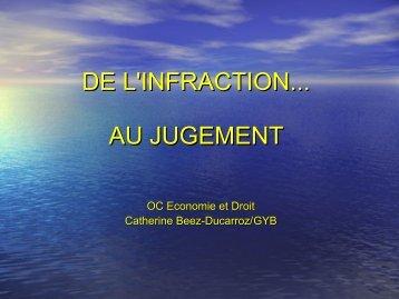 DE L'INFRACTION... AU JUGEMENT