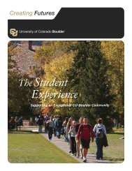 Student Experience - University of Colorado Foundation